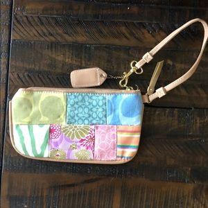 Coach Bags - vintage coach patchwork wristlet